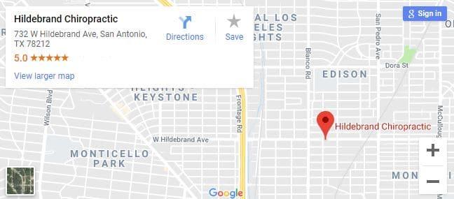 Map of San Antonio Chiropractors